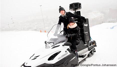 Google Street View maps Swedish slopes