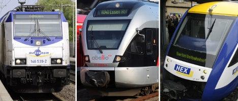 Private train drivers strike in the northeast