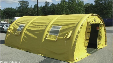 Swedish tents save lives at stricken nuclear plant