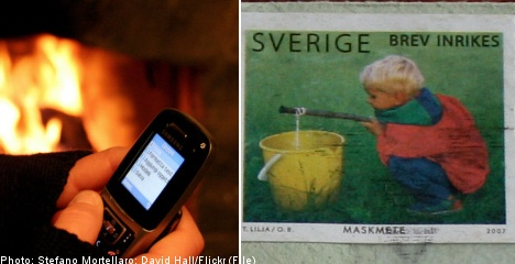Text messages to replace stamps in Sweden
