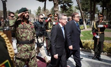 De Maizière makes first trip to Afghanistan