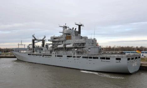 German ships to return Egyptians fleeing Libya
