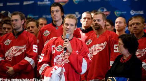 US city honours Swedish NHL star Lidström