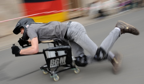 Luxembourger triumphs in German office chair race