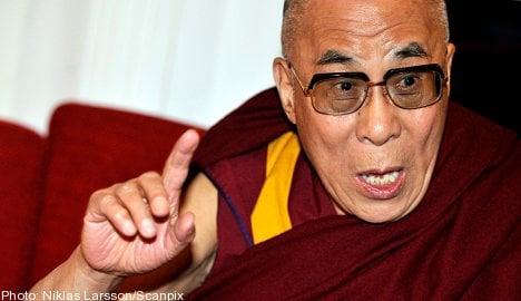 Dalai Lama arrives for 'final' Sweden visit