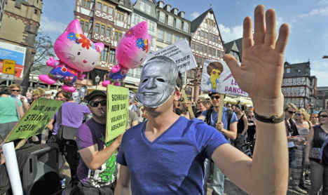 Silent dancers descend on Frankfurt to break Christian law