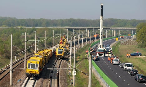 Construction accidents delay on major rail routes
