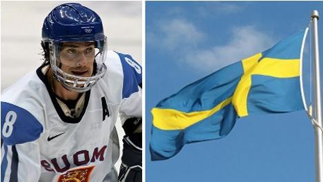 Finnish hockey legend reveals Swedish tattoo secret