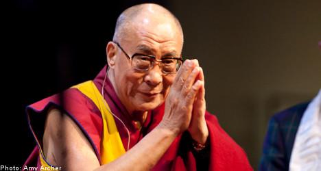 Dalai Lama charms southern Sweden