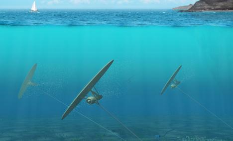 Swedish 'underwater kite' looks to make clean energy waves