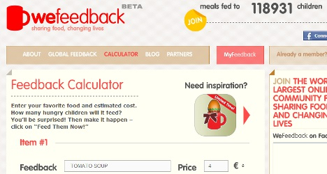 Swedish food 'exchange' site raises funds for the world's hungry