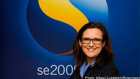 Malmström opens for EU border controls