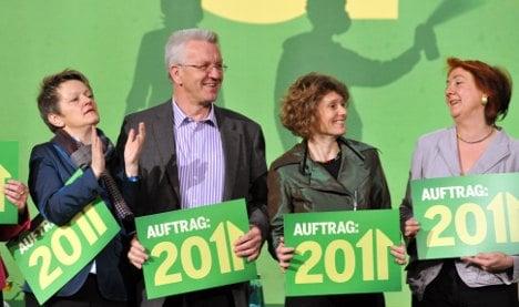 Greens gaining on Merkel's conservatives