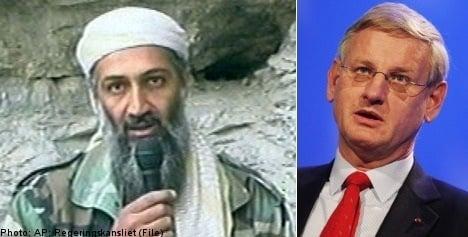 Bildt hails 'better world' after bin Ladin death