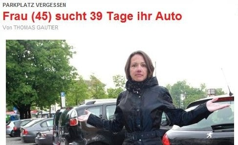 Woman 'misplaces' her car in Munich for 39 days