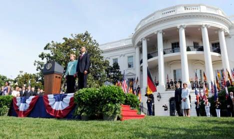 Merkel visit prompts White House pomp