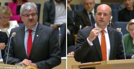 Reinfeldt and Juholt spar in first debate