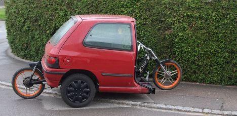 Police swipe Swiss teen's home-made bike car