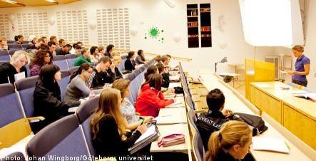 Foreign student numbers plummet in Sweden