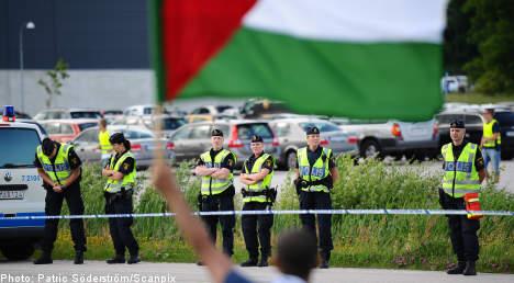 No violence at Sweden-Israel handball game
