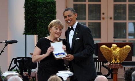 Merkel and Obama talk debt crisis, Libya