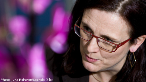 Malmström touts corruption crackdown
