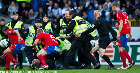 Malmö FF fined for fan's attack on football player