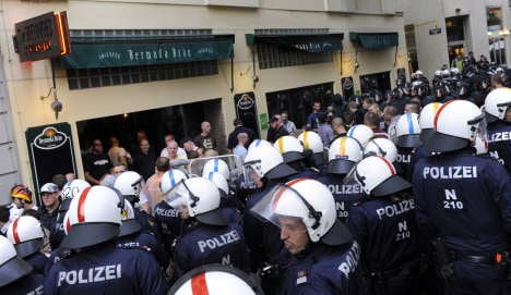Austrian police arrest 213 rowdy Germany fans ahead of game