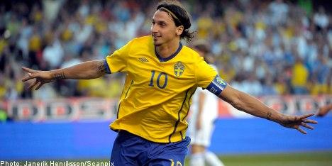 Zlatan hat trick helps Sweden thrash Finland