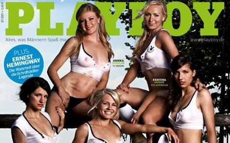 Playboy shoot reveals feminine side of German football squad