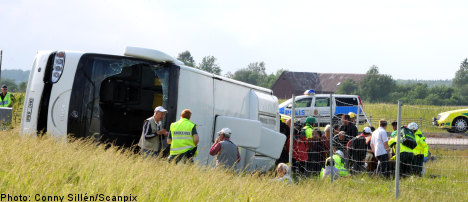 Chinese tourists injured in Sweden bus crash