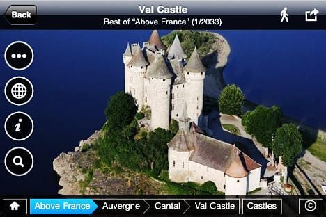 App gives Apple users aerial view of France