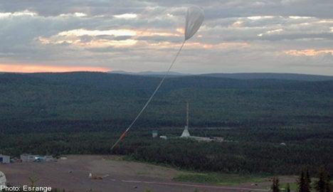 Swedish balloon burst on space journey