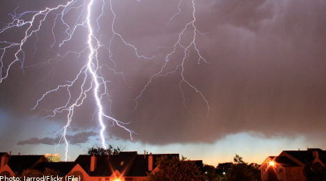 Sweden struck by massive thunderstorm