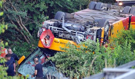 One killed, 15 injured in Bavarian bus crash