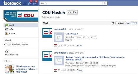 CDU in teen-style Facebook party blunder
