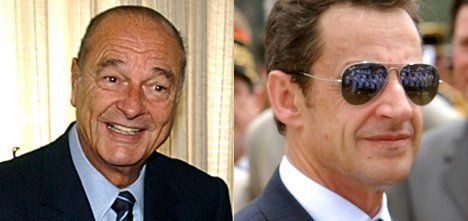 Chirac and Sarkozy: Paradise lost