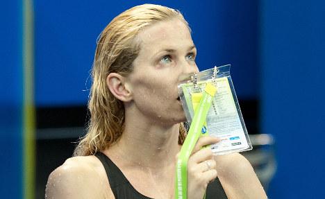 Swim champ Britta Steffen makes shock withdrawal
