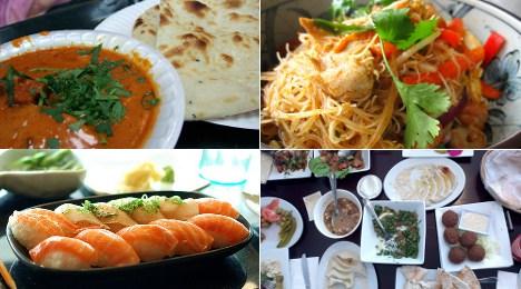 Ethnic restaurants in Stockholm: a sampler