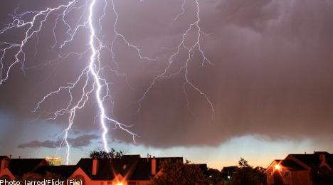 Thunderstorms leave southern Sweden reeling