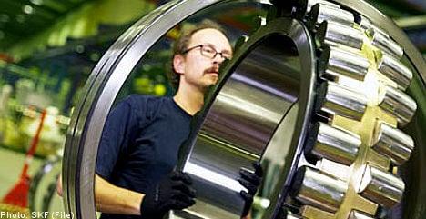 Swedish bearings firm SKF reports profits jump
