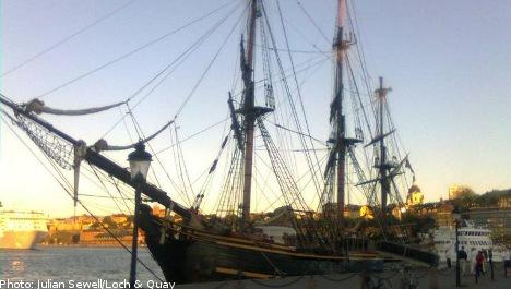 Hollywood pirate ship docks in Stockholm