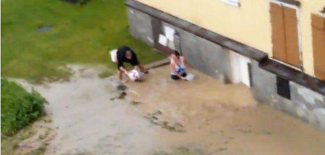 Storms cause mudslides in eastern Switzerland