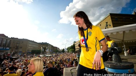 Swedish World Cup stars given heroes' welcome