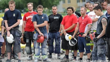 Sweden observes silent minute for Norway