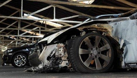 Fourth night of car arson prompts terror debate