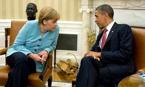 Obama, Merkel agree to boost global economy