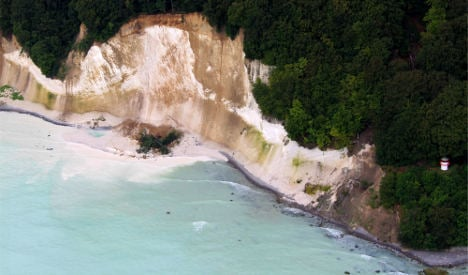 Heavy rains cause Rügen chalk cliffs to fall into Baltic Sea