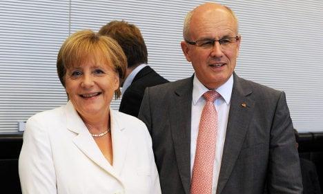 Merkel urges eurozone budgets court enforced