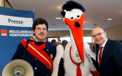 Neo-Nazi cartoon stork irritates far-right